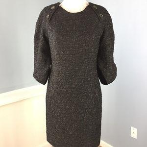 BCBGMAXAZRIA dress Black Crinkle Textured S shift